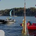 Bärgning av båten Lovisa från ca 40 meters djup